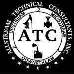 ATC logo -A- WHITE with STARS - on black